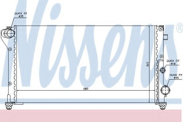 Радиатор охлаждения NISSENS 617846