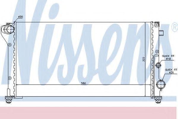 Радиатор охлаждения NISSENS 617847