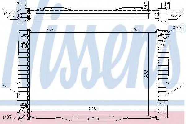 Радиатор охлаждения двигателя NISSENS 65535A