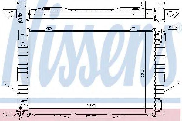 Радиатор охлаждения NISSENS 65536A