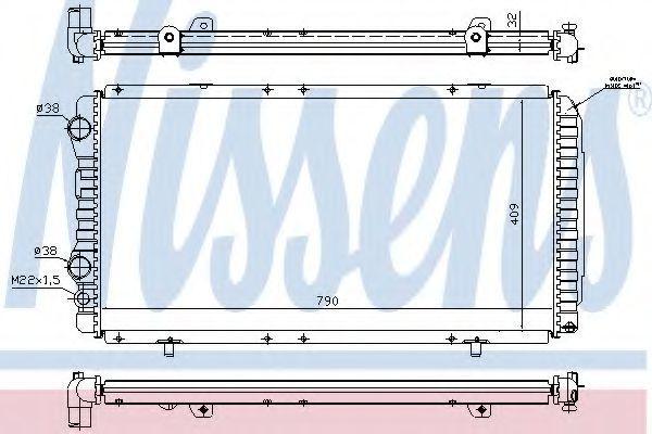 Радиатор охлаждения NISSENS 61390