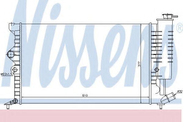 Радиатор охлаждения двигателя NISSENS 61384