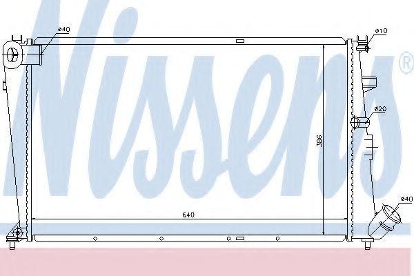 Радиатор охлаждения двигателя NISSENS 61233