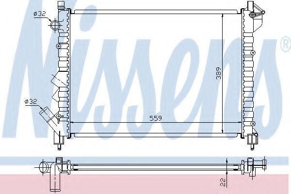 Радиатор охлаждения двигателя NISSENS 63832