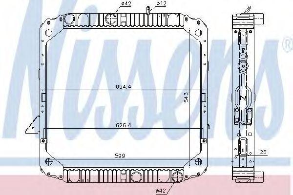 Радиатор двигателя NISSENS 62743