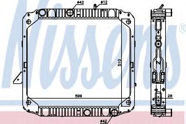 Радиатор охлаждения NISSENS 62747