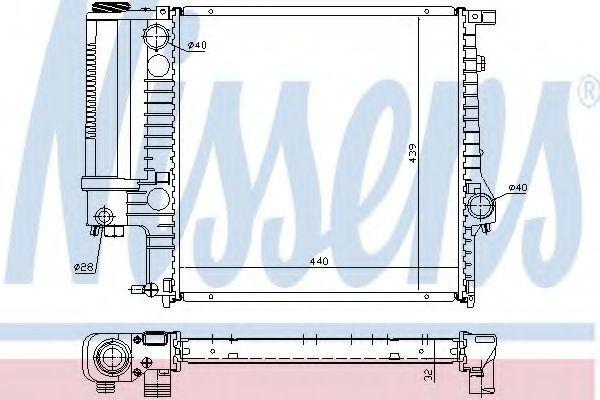 Радиатор охлаждения NISSENS 60623A