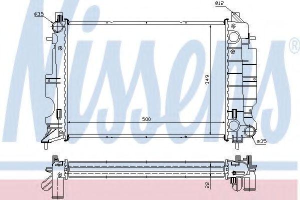 Радиатор охлаждения NISSENS 64038A