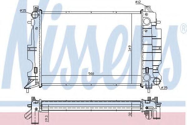 Радиатор охлаждения NISSENS 64037A
