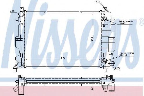 Радиатор охлаждения NISSENS 64036A