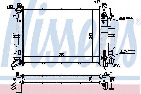 Радиатор охлаждения NISSENS 64034A