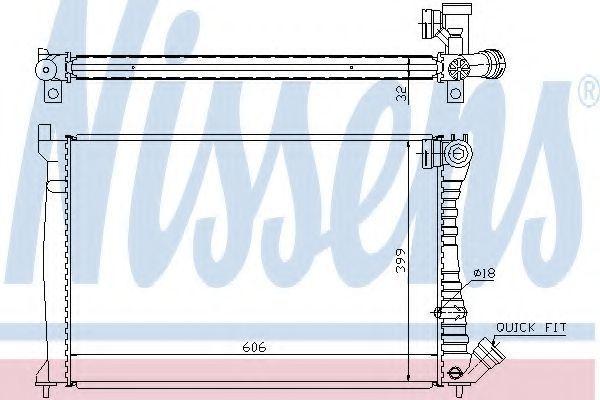 Радиатор охлаждения NISSENS 61398A