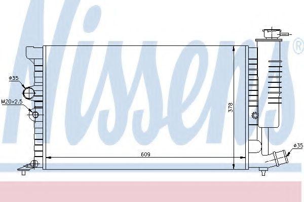 Радиатор охлаждения NISSENS 61399A