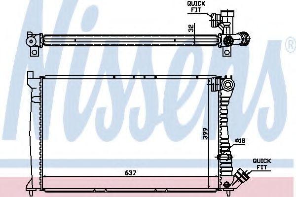 Радиатор охлаждения двигателя NISSENS 61349A