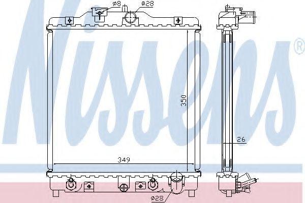 Радиатор охлаждения NISSENS 633081