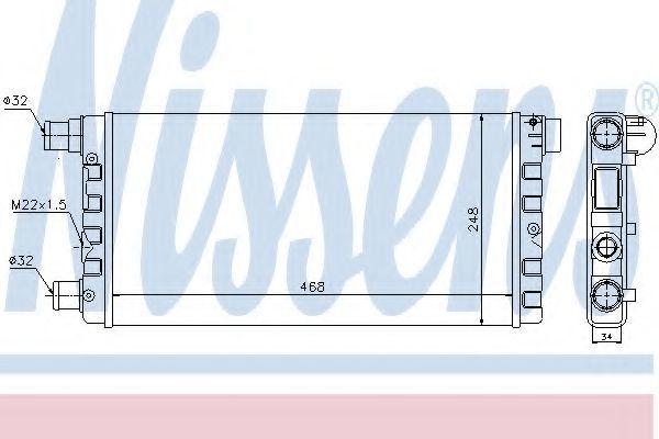 Радиатор охлаждения NISSENS 61814