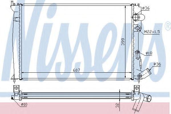 Радиатор охлаждения NISSENS 61302A