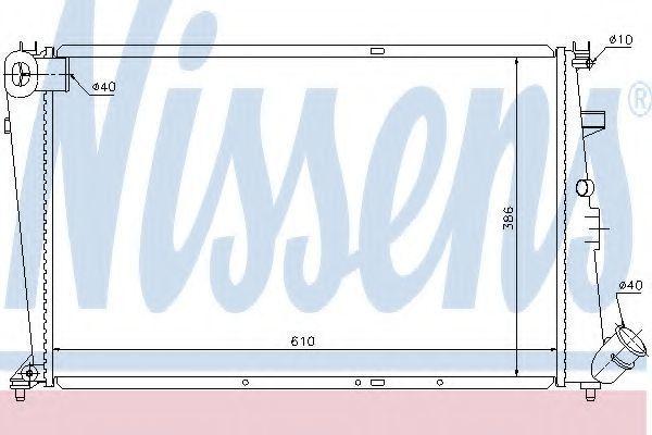 Радиатор охлаждения NISSENS 61303