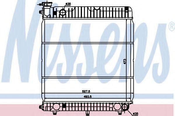 Радиатор охлаждения NISSENS 62635