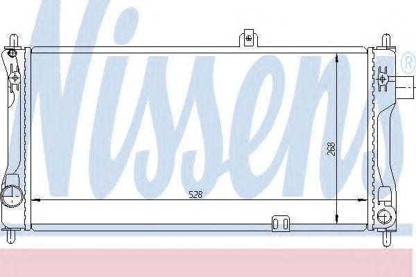 Радиатор охлаждения двигателя NISSENS 632421