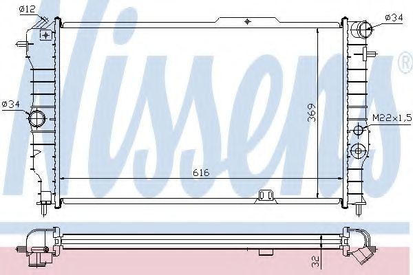 Радиатор охлаждения NISSENS 630631