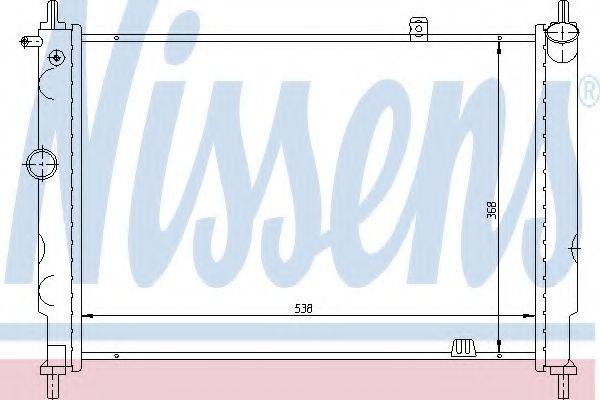 Радиатор охлаждения NISSENS 63059
