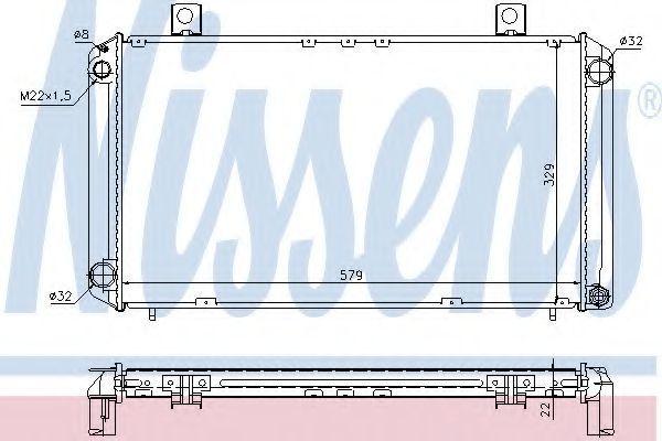 Радиатор охлаждения NISSENS 64057A