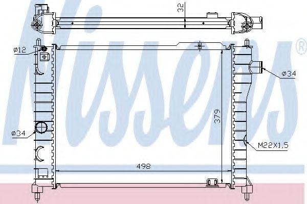 Радиатор охлаждения двигателя NISSENS 63062A