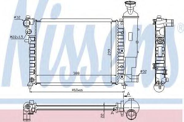 Радиатор охлаждения двигателя NISSENS 61358