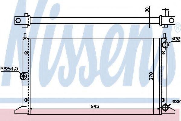 Радиатор охлаждения двигателя NISSENS 63991