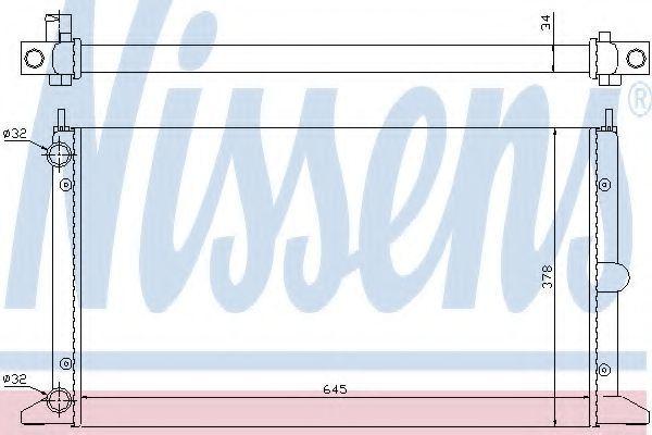 Радиатор охлаждения двигателя NISSENS 63993