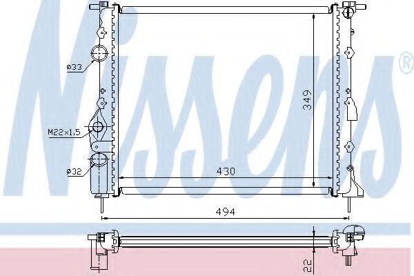 Радиатор охлаждения NISSENS 639371