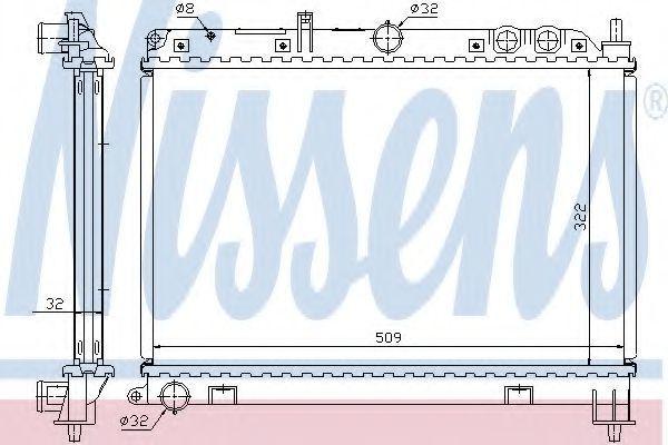Радиатор охлаждения двигателя NISSENS 64210A
