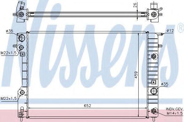 Радиатор охлаждения NISSENS 63072A