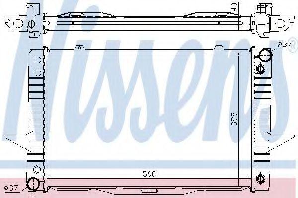 Радиатор охлаждения NISSENS 65540A
