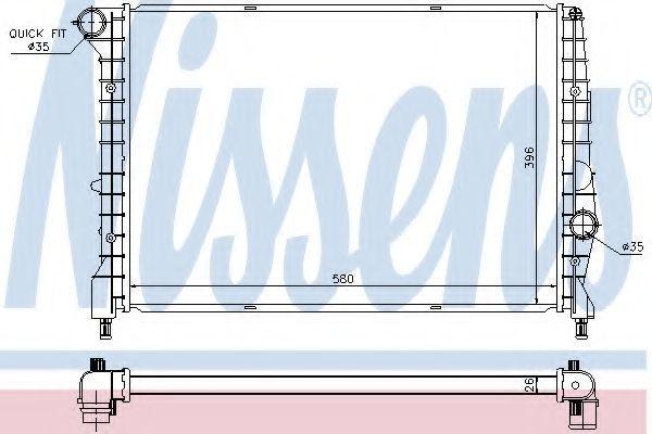 Радиатор охлаждения NISSENS 60058