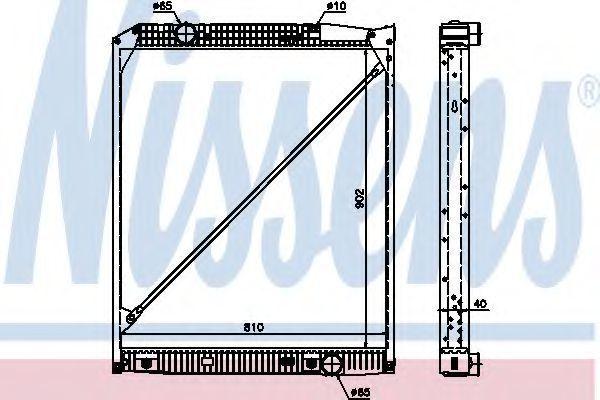 Радиатор охлаждения двигателя NISSENS 62653A