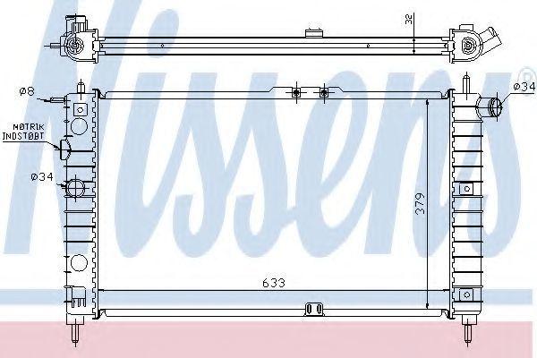 Радиатор охлаждения NISSENS 61651A