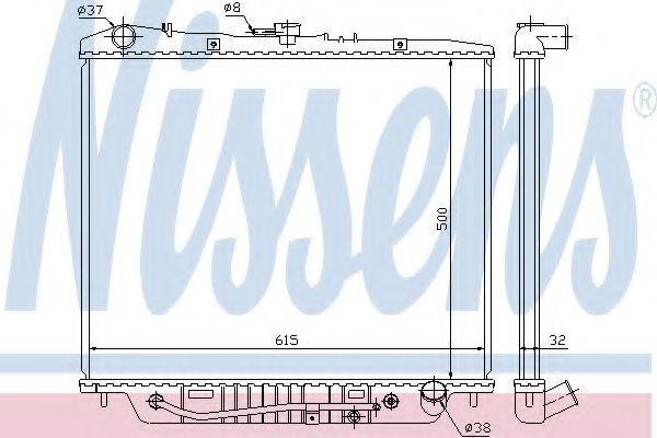 Радиатор охлаждения NISSENS 60852
