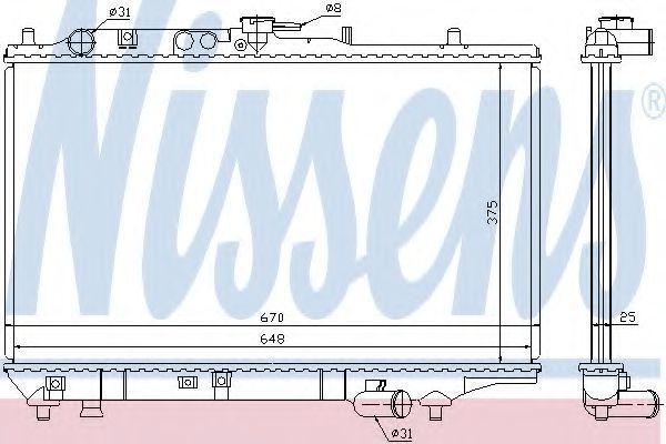 Радиатор охлаждения двигателя NISSENS 63390