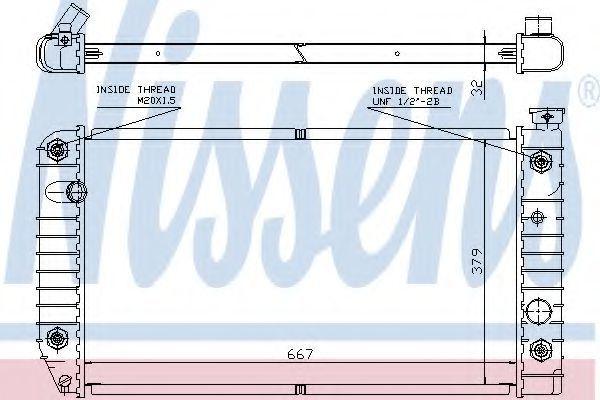 Радиатор, охлаждение двигателя NISSENS 60968