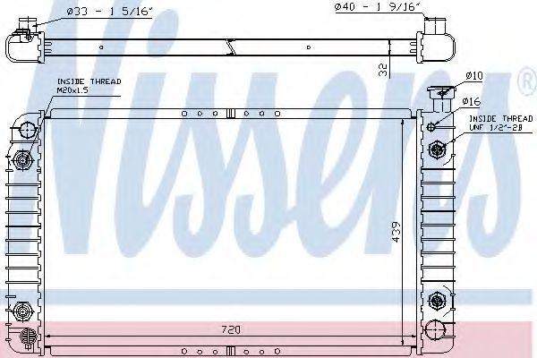 Радиатор, охлаждение двигателя NISSENS 60958