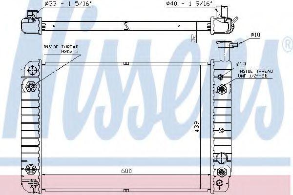 Радиатор, охлаждение двигателя NISSENS 60957