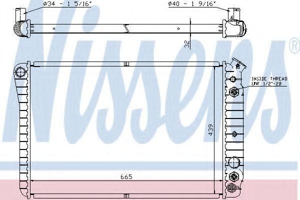 Радиатор охлаждения двигателя NISSENS 67600