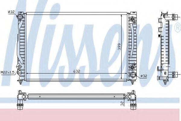 Радиатор охлаждения NISSENS 60498
