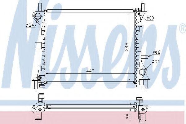 Радиатор охлаждения NISSENS 62074A