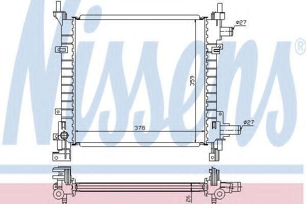 Радиатор охлаждения двигателя NISSENS 62083A
