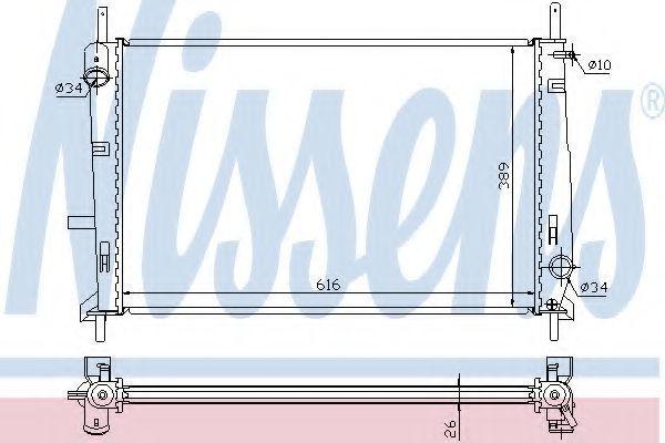 Радиатор охлаждения двигателя NISSENS 62056A