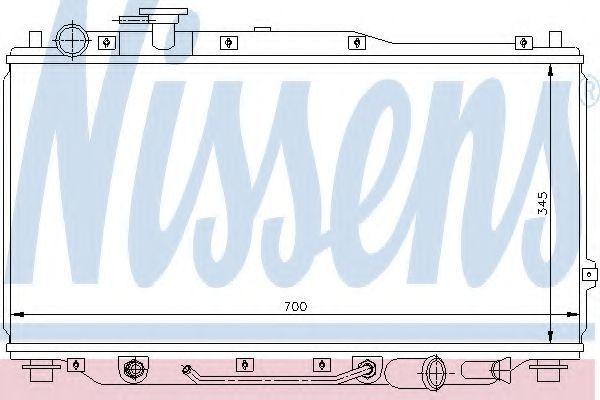 Радиатор охлаждения NISSENS 66605