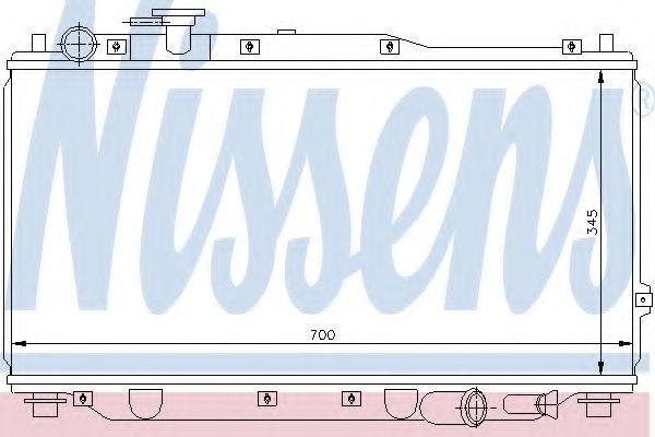 Радиатор охлаждения двигателя NISSENS 66604